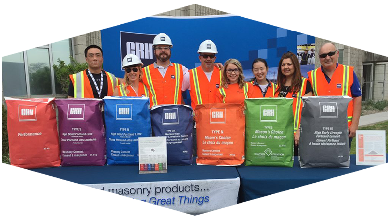 Employees with CRH Bagged Products