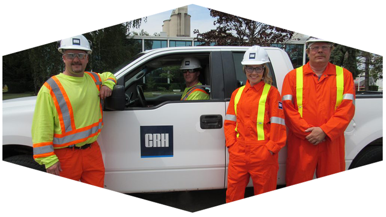 Employees with CRH Truck